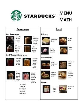 Dunkin Donuts and Starbucks Menu Math Bundle