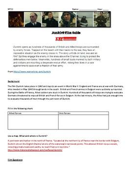 Dunkirk 2017 Film Guide; WWII; World War 2; Nazi Germany; Holocaust
