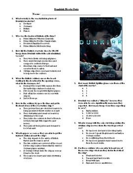 Dunkirk Movie Quiz