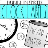 Dunn Inspired Clock Labels: Rae Dunn Classroom Decor