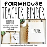 Farmhouse EDITABLE Teacher Binder