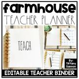 Farmhouse EDITABLE Teacher Binder