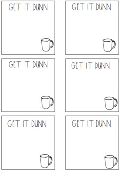 Dunn Inspired Note Templates (sticky note or regular paper!) for Teachers