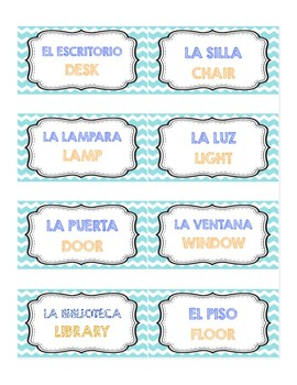 Duo Spanish English Class Labels By Apple For Teacher Tpt