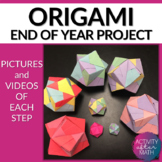 Duo dodecahedron 3-D Origami Step-by-Step Instructions End of the Year activity