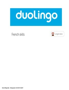 Duolingo Certificates for French Levels