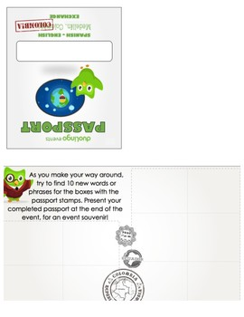 Duolingo Event Passport Template