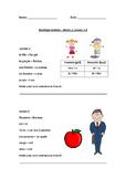 Duolingo printable revision, Basics 1, Lesson 1 & 2