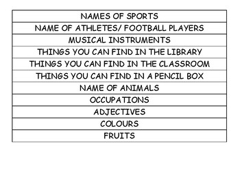 Duominton (categories)