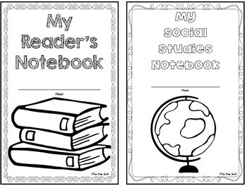 Notebook Cover Pages {Freebie}