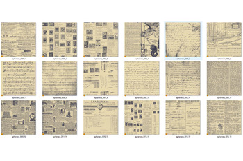 Duotone Paper Ephemera Textures