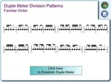 Duple & Triple Division Rhythm Patterns for Reading