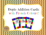 Duplo Addition Cards: with French Colour Vocabulary!