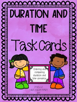 Duration and Time Task Cards