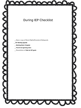 During IEP Templates & Forms