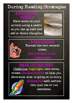 During Reading Strategies (Poster)