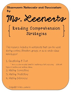 During-Reading Strategies Worksheets