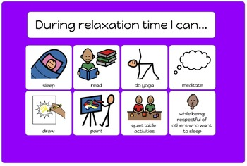 During Relaxation Time I can...
