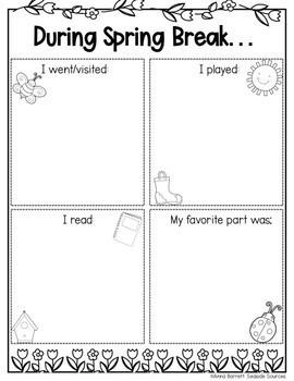 During Spring Break NO PREP Writing Activity