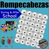 During and After School Vocabulary Puzzles Asi Se Dice Chapter 3