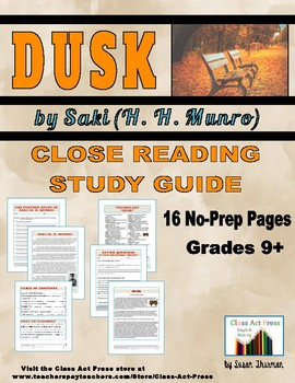 Dusk: Close Reading Study Guide for the Saki Short Story