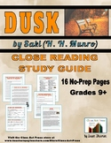 Dusk: Study Guide for Saki's Short Story (Full Text, 15 Pa