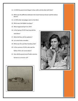 BYOD Assignment - Dust Bowl - American Experience video questions