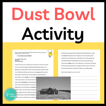 Dust Bowl Close Reading