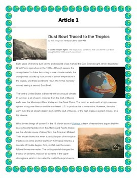 Dust Bowl Interdisciplinary Project