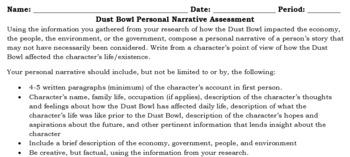 Dust Bowl Personal Narrative