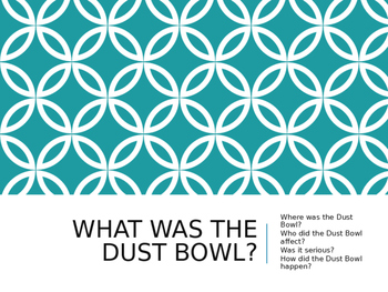 Dust Bowl PowerPoint Presentation