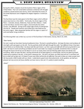 Dust Bowl Primary Source Stations Activity