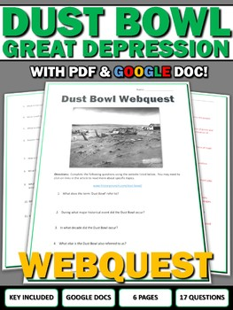 Dust Bowl - Webquest with Key (Google Doc Included)