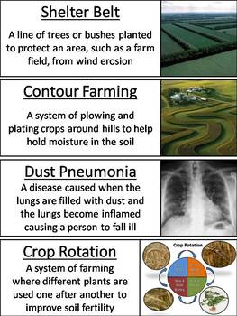 Dust Bowl Word Wall Cards