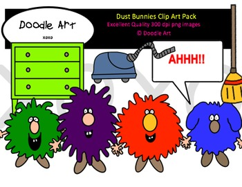 Dust Bunnies Clipart Pack