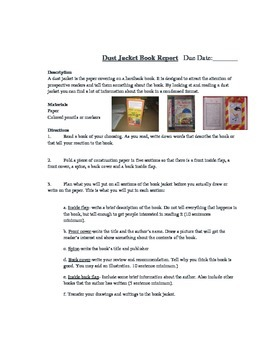 Dust Jacket Book Report