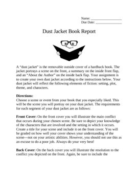 Dust Jacket Book Report Project