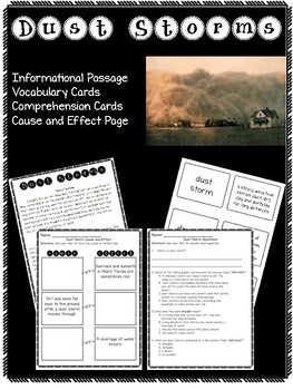 Dust Storm Informtional Text