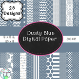 Dusty Blue Digital Paper Bundle