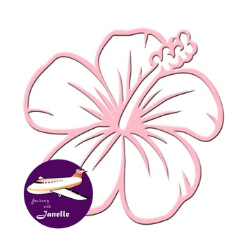 Dusty Pink Clip Art Decoration Scrapbooking Elements - 60 items