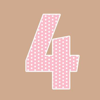 Dusty Pink Polka Dot Alphabet Clip Art + Numerals, Punctuation and Math Symbols