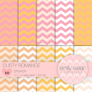 Dusty Romance - Digital Paper - Chevron
