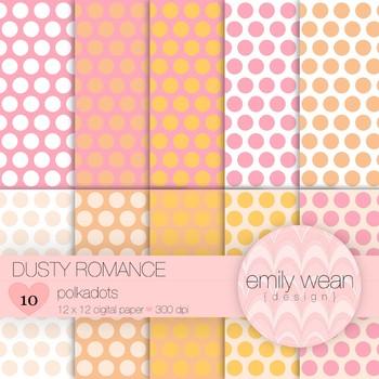 Dusty Romance - Digital Paper - Polkadots