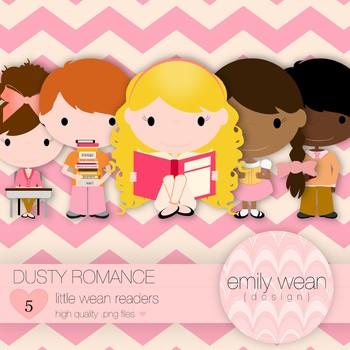 Dusty Romance - Little Readers Clip Art