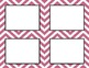 Dusty Rose Chevron Classroom Labels and Tags