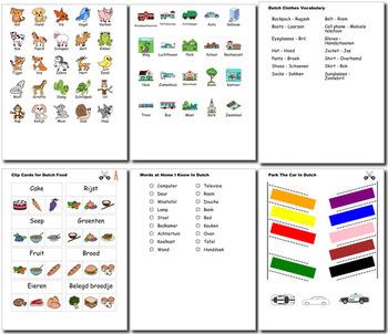 Dutch Bundle for Smart Teachers: 10 beginner units & ☆147+☆ NO PREP printables