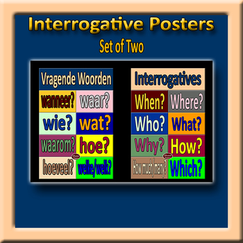 Dutch Interrogatives Poster Pair
