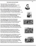 Dutch in the New World (18) - poem, worksheets, puzzle