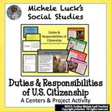 Duties & Responsibilities of Citizenship Centers Activity & Project