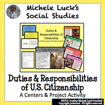 Duties & Responsibilities of Citizenship Centers Activity & Project